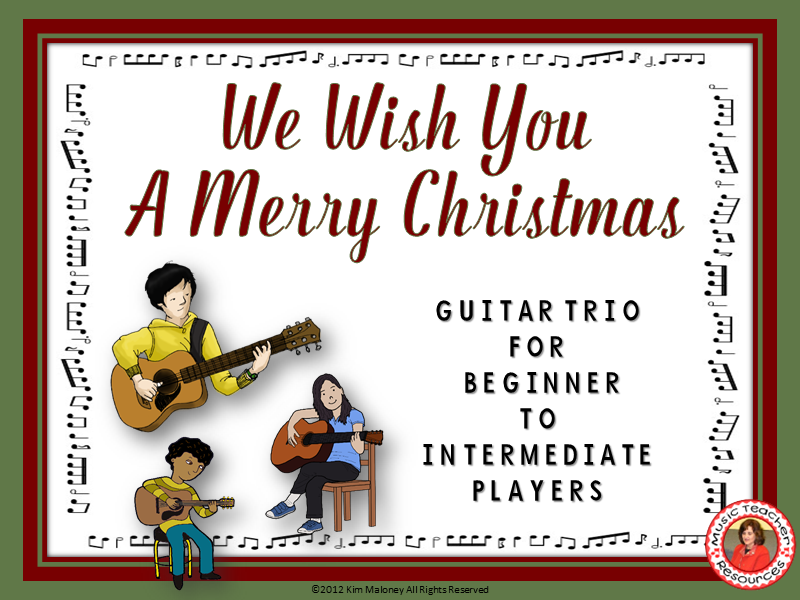 We Wish You A Merry Christmas Easy Guitar Trio Easy Guitar And