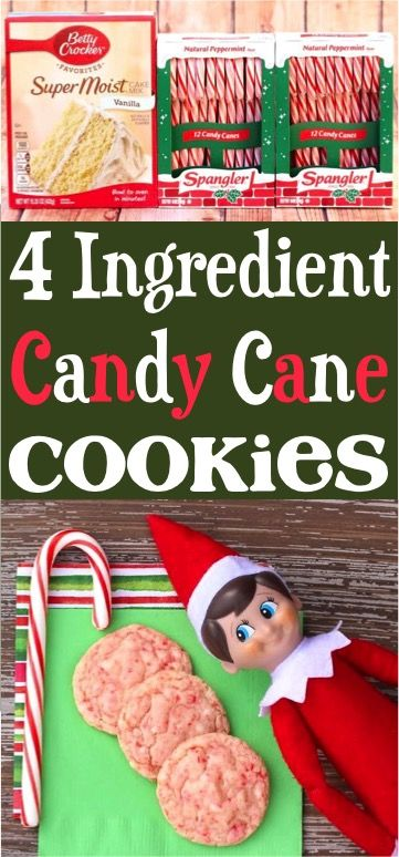 Candy Cane Cake Mix Cookies! (Just 4 Ingredients) (Posts by DIY Thrill)