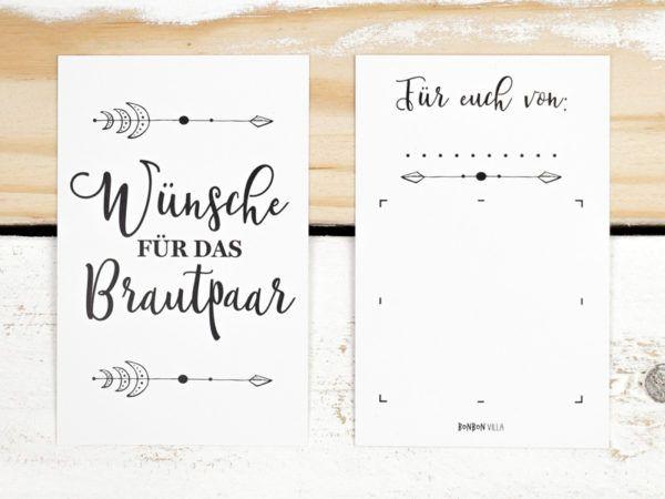 Rubbellose Wünsche Für Das Brautpaar Weiß