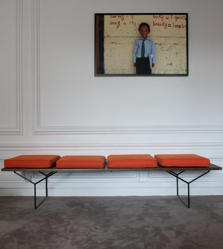 Harry Bertoia 400yc Enameled Metal And Wood Slat Bench For Knoll International 1960 Deco Interieure Mobilier De Salon Mobilier