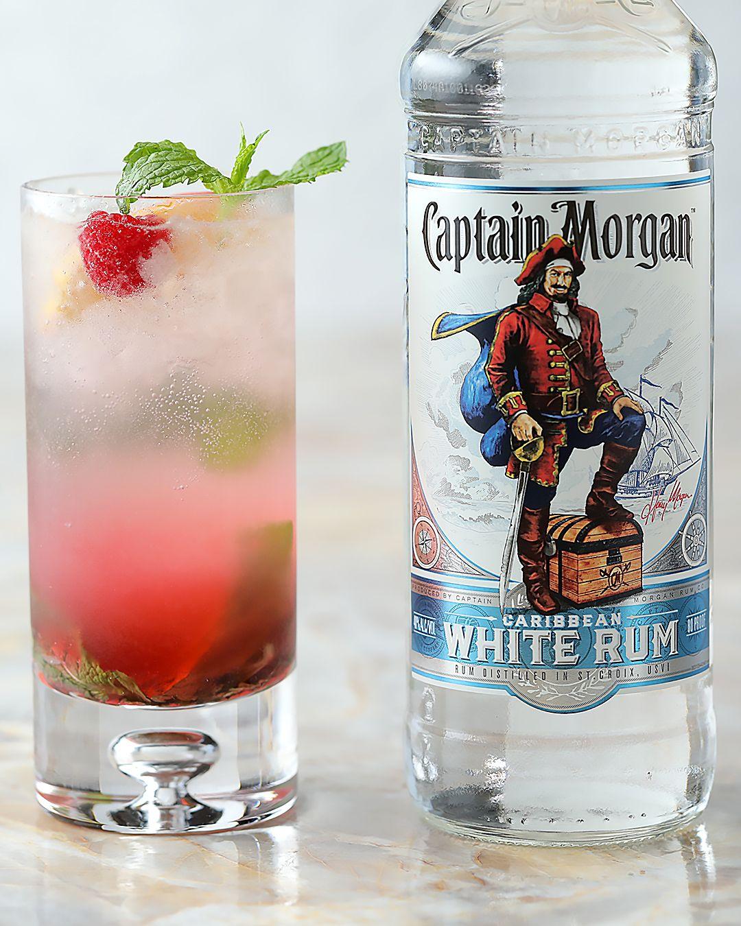 Raspberry Peach Mojito Captain Morgan Drinks Rum Drinks Alcohol Drink Recipes