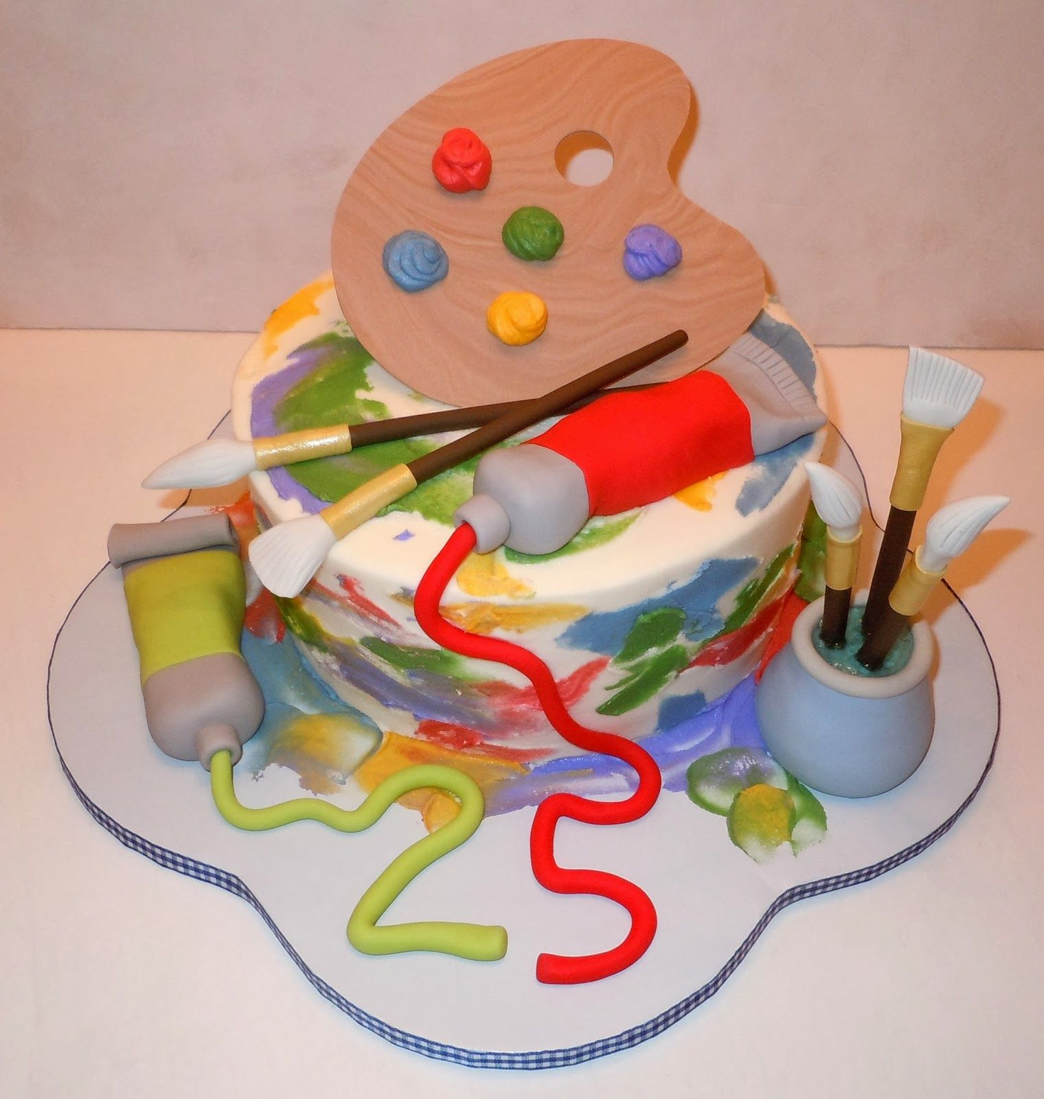 Cake Artist Painter : painting+cake.jpg (1520x1600) Hella Pinterest Cake ...