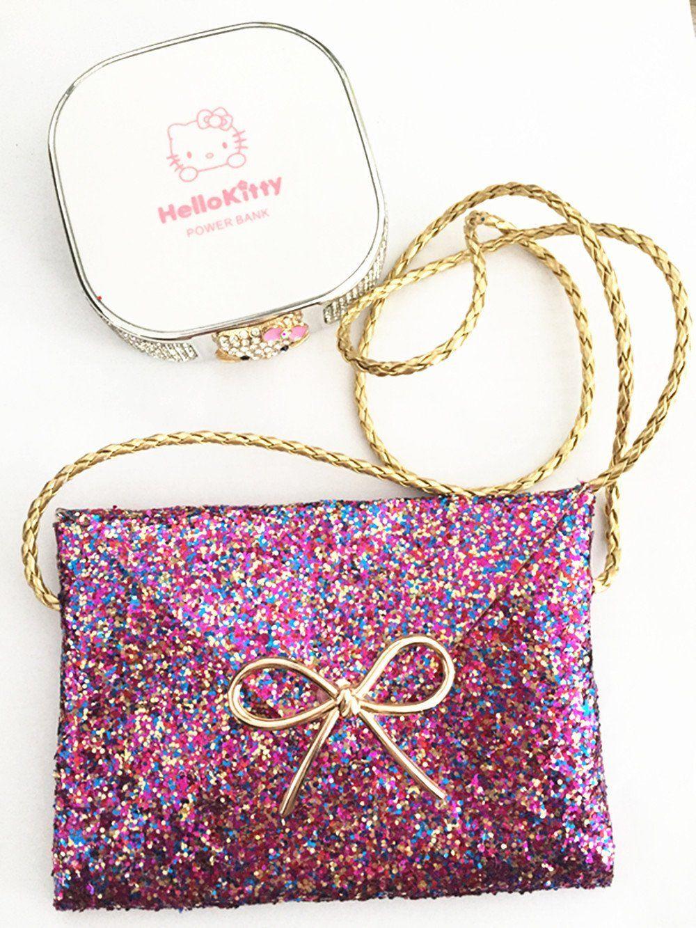 0f1b598c5a 1pic Color Purple Bling Bling Shoulder Bag Lovely Little Girl Kids Children  Handbag Messenger Purse Bag     Read more at the image link.