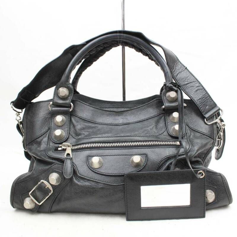 0a185187b08b Details about AUTHENTIC BALENCIAGA Leather Giant City Tote Bag ...