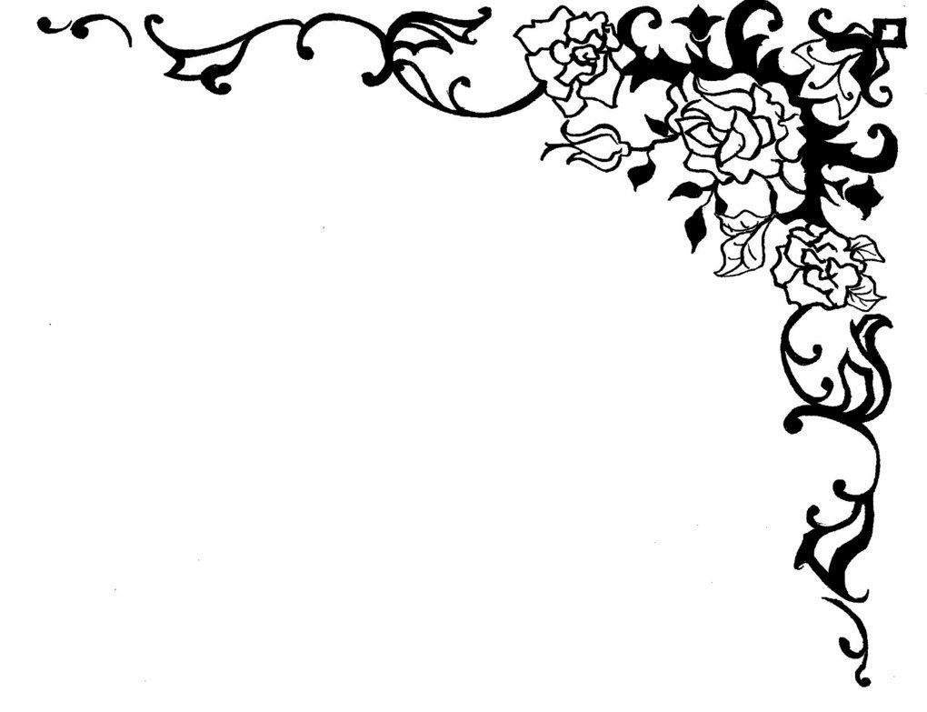 Rose Border by ~Hentai-sama on deviantART   coloring pages   Pinterest