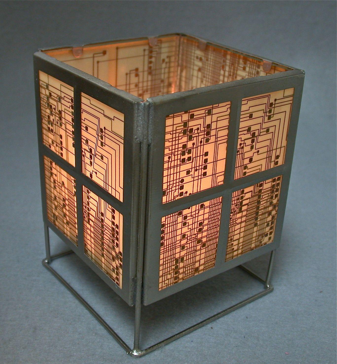 reserve alwaysing recycled circuit board geekery vintage lantern rh pinterest com