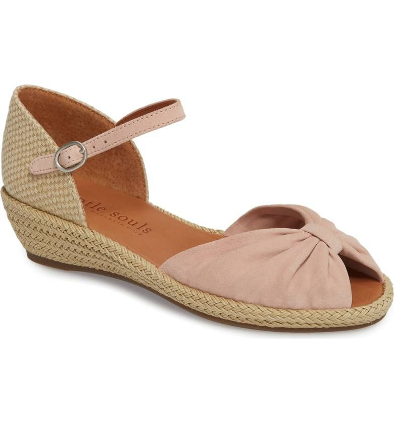 c3a5371e9f5 Gentle Souls, Lucille Espadrille Wedge Sandal in Peony/Pink Suede ...