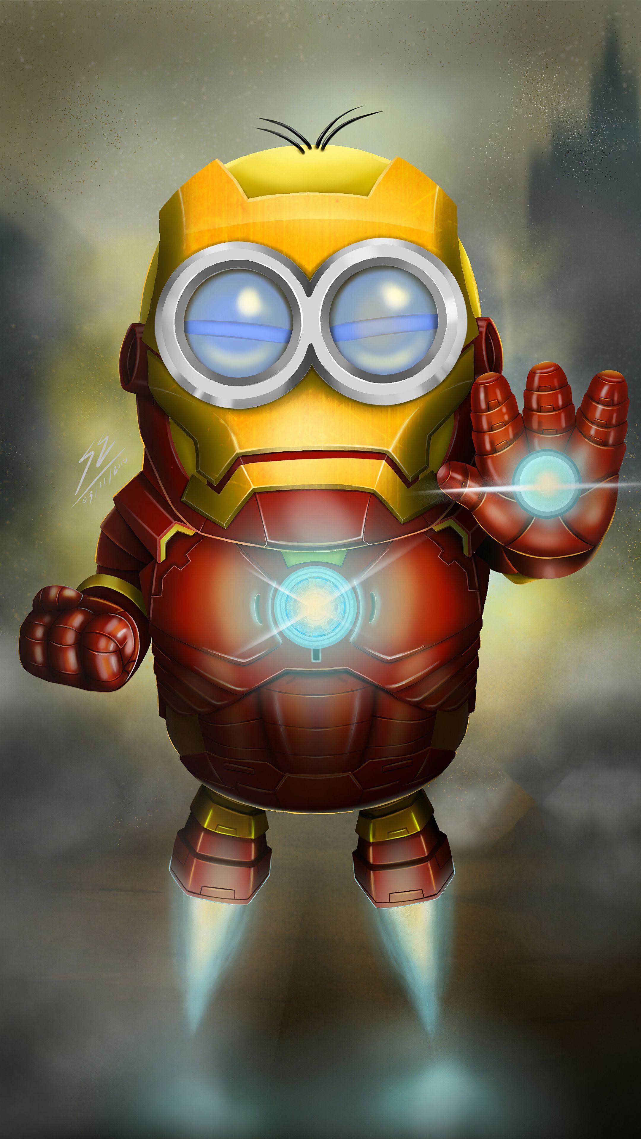 Minion As Iron Man Mobile HD Wallpaper in 2020 Hero