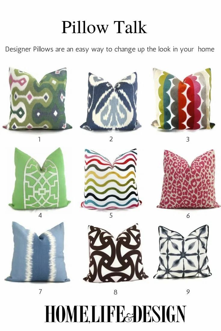 Add a Pop of Color to your Home Decor with Beautiful Designer Pillows from Etsy! Pillows are great way to add color and update your home decor for spring and summer - here's a great collection of options that will make a statement. Home Life & Design. #Pillows #HomeDecor #DesignerPillows #PopOfColor #HomeLife&Design #JillShevlinDesign #ColorfulHomeDecor