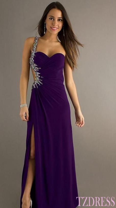 Dark Purple Prom Dresses 2014