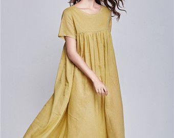 5efa59cbfaa robe de lin du choc de couleur