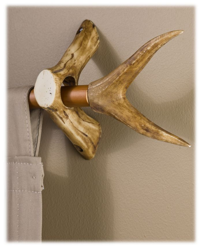 Replica Antler Curtain Rod Accessories Forked Curtain Rod Ends Bass Pro Shops The Best Hunting Fishing