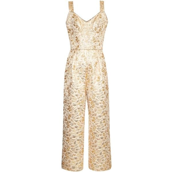 Dolce & Gabbana Cropped Brocade Jumpsuit Buy Cheap Shop For hcW1IZYhHm