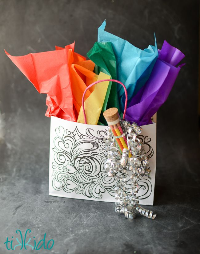 coloring pages style gift bags from michaels, all dressed up with