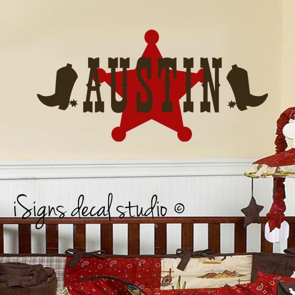 Cowboy Western Decal Bedroom Decal Boy Decal By Isignsdecalstudio