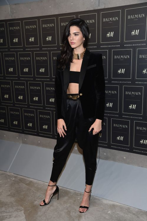 Kendall at the BALMAIN X H&M Collection Launch in New York