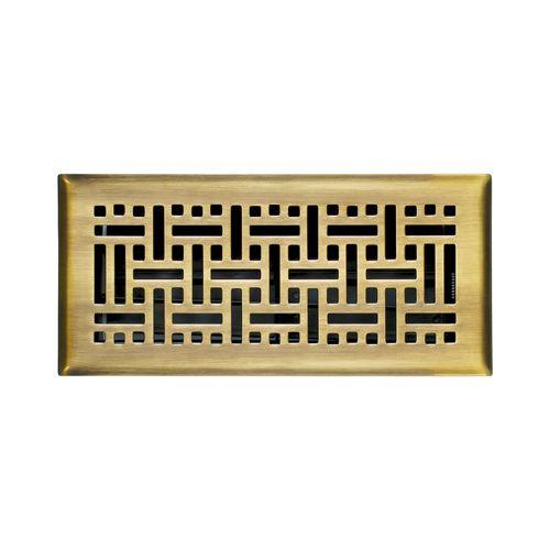 Solid Brass Antique Brass Wicker Floor Register Floor Registers Floors To Go Floor Registers Nickel Steel Flooring