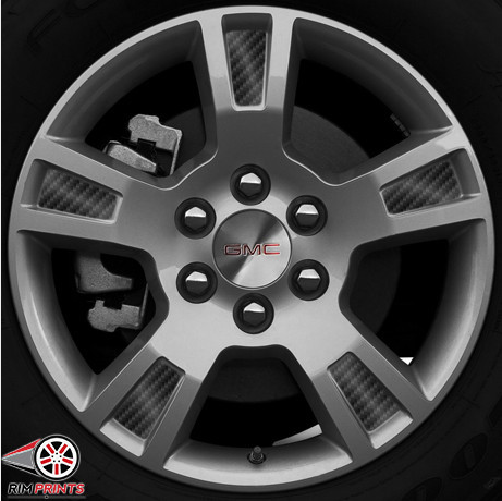 This image features the Carbon Fiber print! Wow! You can really see how Rim Prints can instantly transform the appearance of your GMC Acadia rims! Go now to www.rimprints.com and secure yours today! $149 for all 4 wheels www.rimprints.com