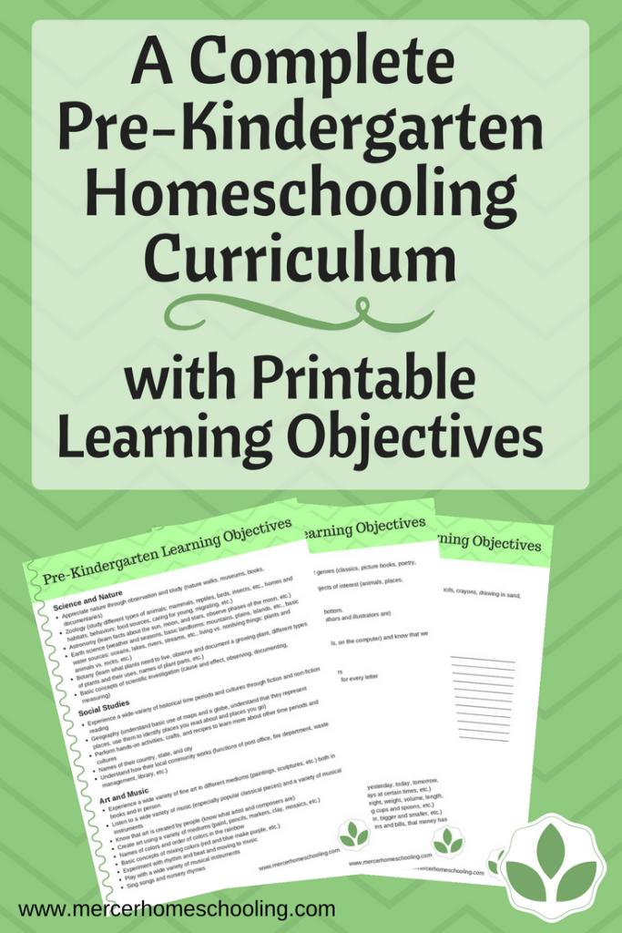 Photo of Our Pre-Kindergarten Homeschooling Curriculum | Mercer Homeschooling