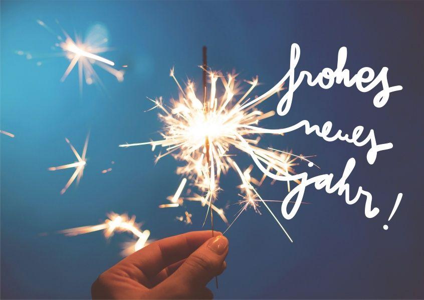 Frohes Neues Jahr Wunderkerze | Neujahrskarten - New Years Eve cards ...