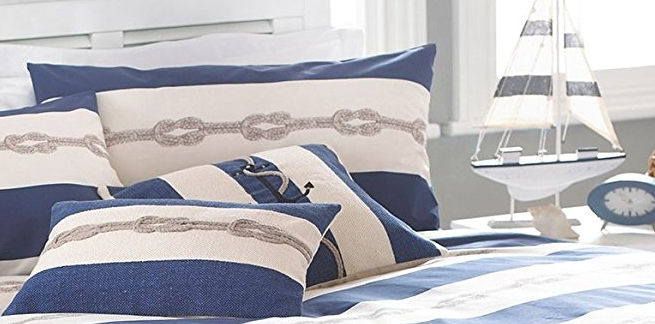Nautical Knot Navy Blue Cream Nautical Comforter Nautical