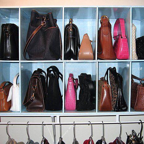Park A Purse Closet Organizer With 10 Cubbies Handbag
