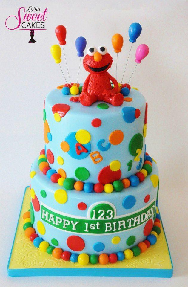 Super Cute Elmo Cake By Loris Sweet Cakes Fantabulous Cake Ideas