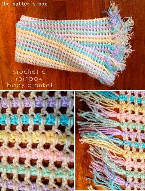 Punto muy original a crochet con paso a paso para hacer una bufanda ...