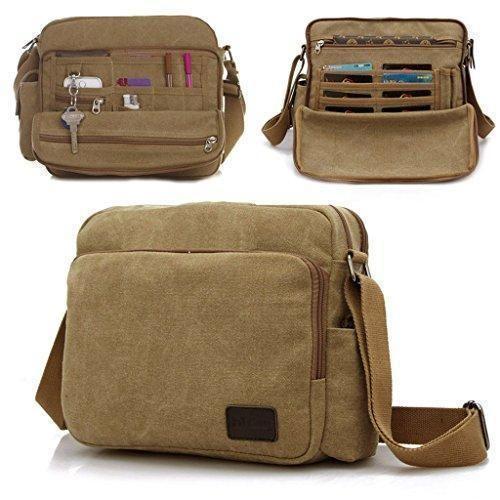 fc7ad39afd73b Comprar Ofertas de Outreo Bolsos de Tela Bolso Bandolera Hombre Vintage  Messenger Bag Bolsos Originales Trabajo Bolsa de Lona para Estudiante Un  barato.