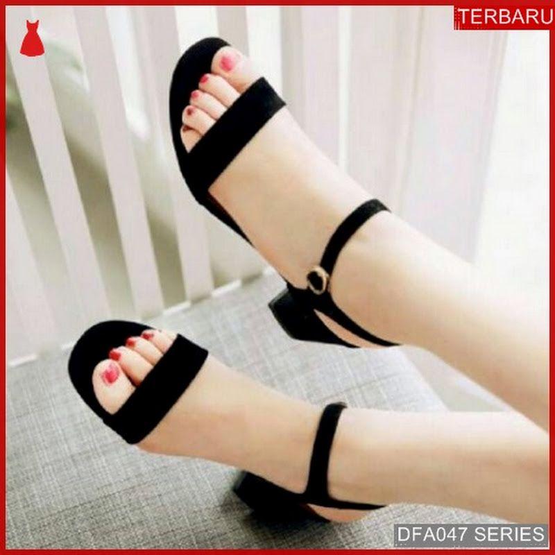 Dfa047u32 Us39 Sandal Heels Ariqah Wanita Hak Dewasa Tahu Suede