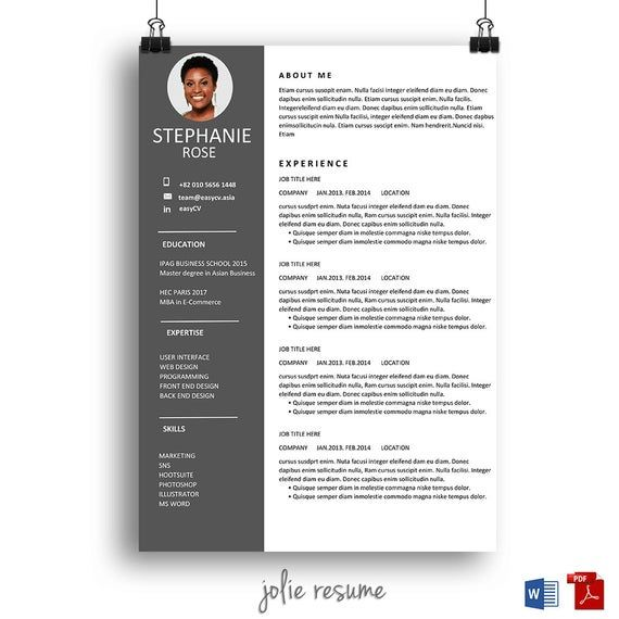 resume template  u0026quot stephanie u0026quot