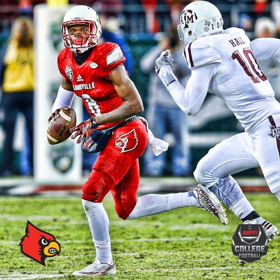 After 3 Qtrs Lamar Jackson Is Doing It All For The Louisville Cardinals He Has 2 Rush Tds 2 Pass Tds Louisville Football College Sports College Quarterbacks