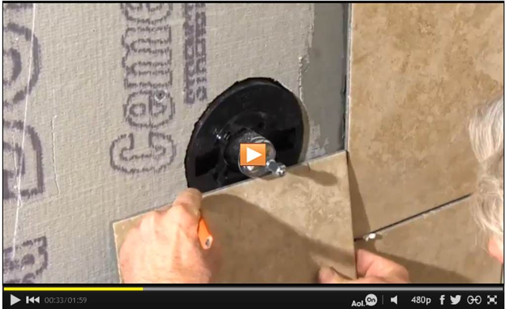 How to Cut a Large Hole in Tile #Video: http://www.familyhandyman ...