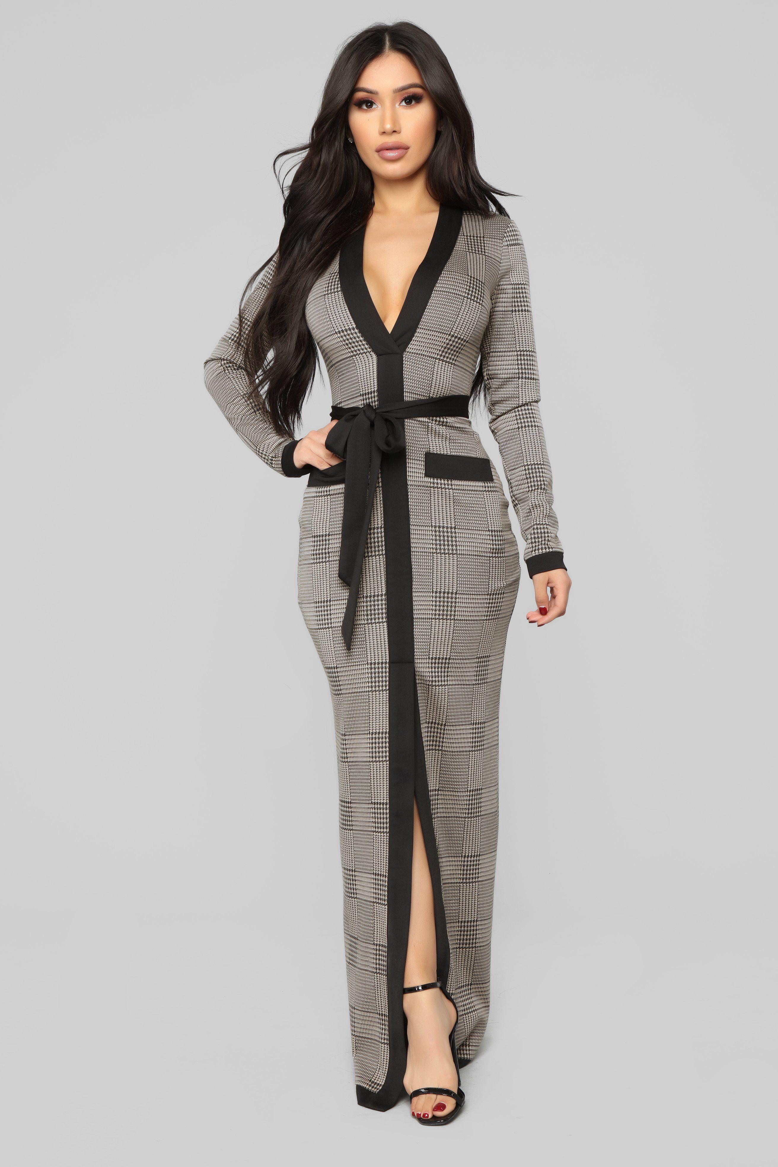 Cameron Maxi Dress Taupe/Black in 2020 Maxi dress