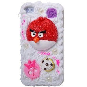 Cake anyone? Its a cake, Its an angry bird, no its an angry bird on a cake at the back of an iPhone.