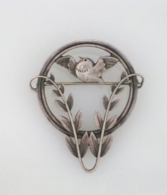 Vintage GEORG JENSEN Sterling Dove Brooch Pin by FLauraChristine, $550.00