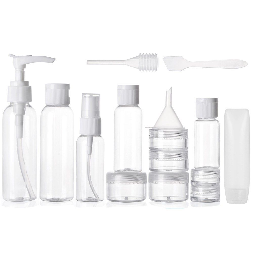 b21a107f3f16 ALINK Travel Size Toiletry Bottles Set, TSA Approved Clear Cosmetic ...