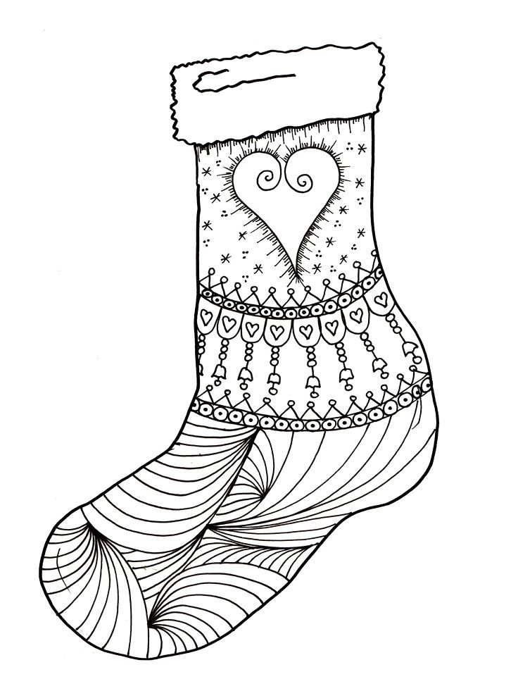 Christmas Stockings COloring Pages | Christmas - pergamano ...