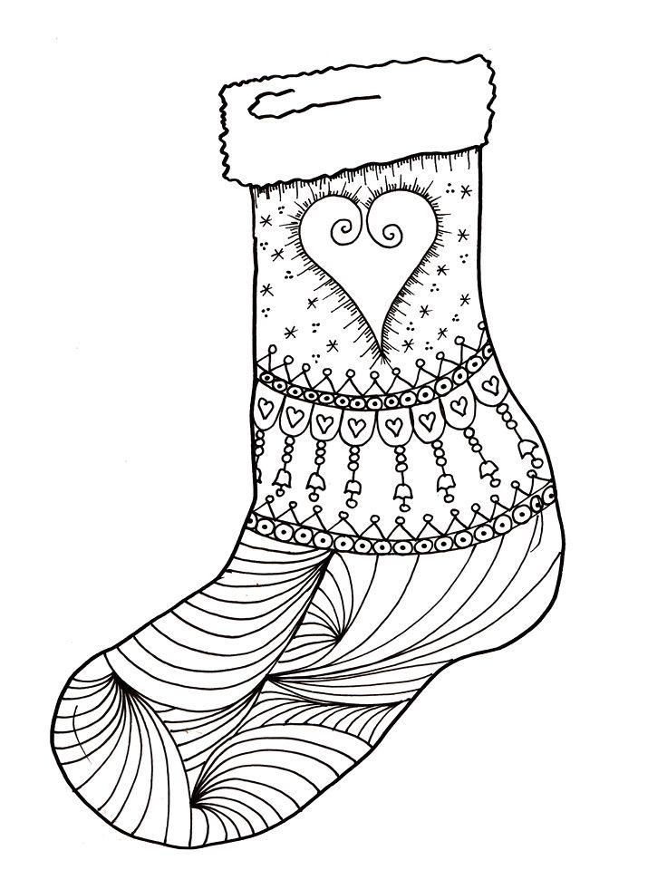 Christmas Stockings COloring Pages Printable christmas