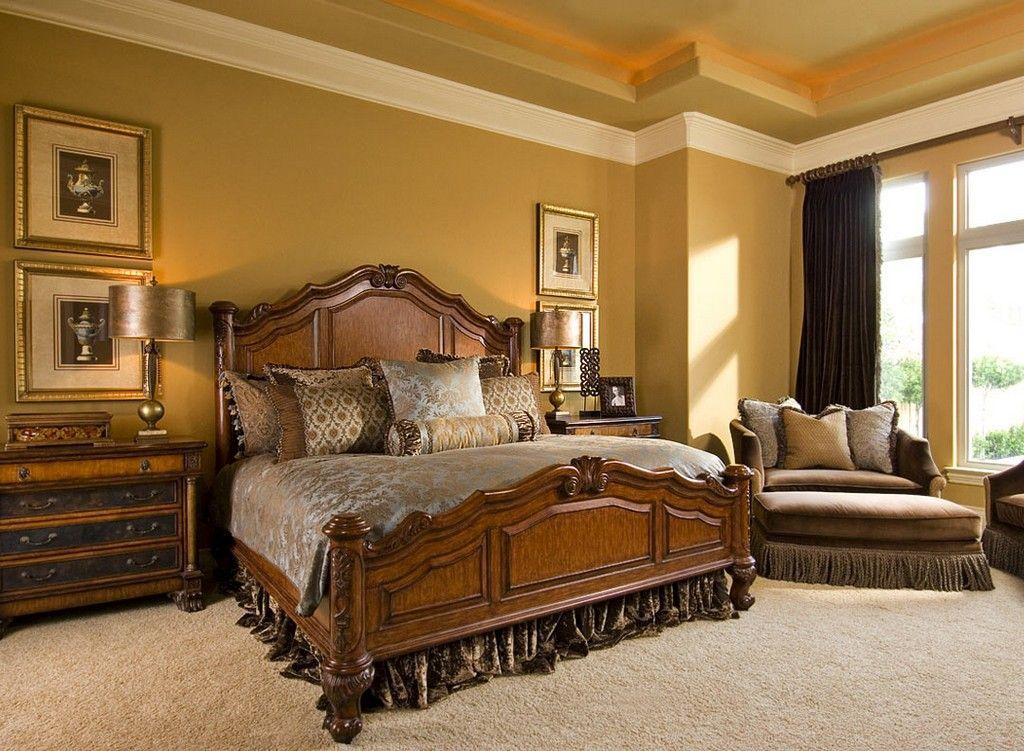 Mediterranes Schlafzimmer ~ Kleine schlafzimmer modern creme wandfarbe holzlatten bett