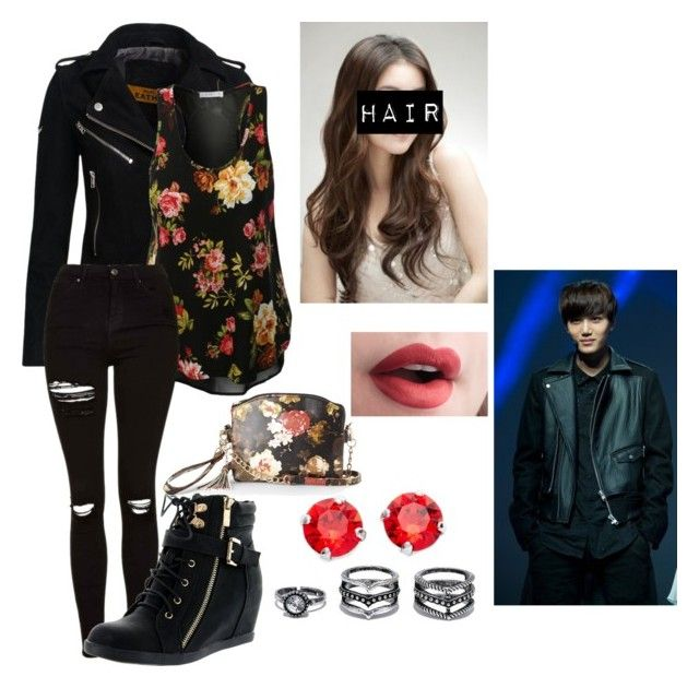 """""""No. 380"""" by goth-kpop-lover ❤ liked on Polyvore featuring Superdry, Topshop, Top Moda, IMoshion, LULUS and L. Erickson"""