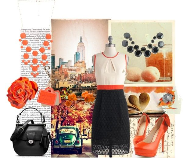 """Orange Explosion"" by cottage1991 ❤ liked on Polyvore"
