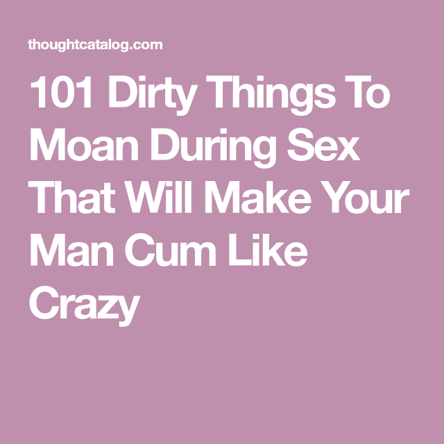How to make your wife moan