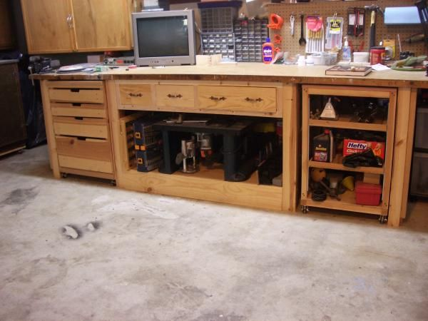 work stations custom wooden workspaces garage shopwork stations workbenchesworkshop ideasworkspaceswoodworkingbaysdiy - Workbench Design Ideas