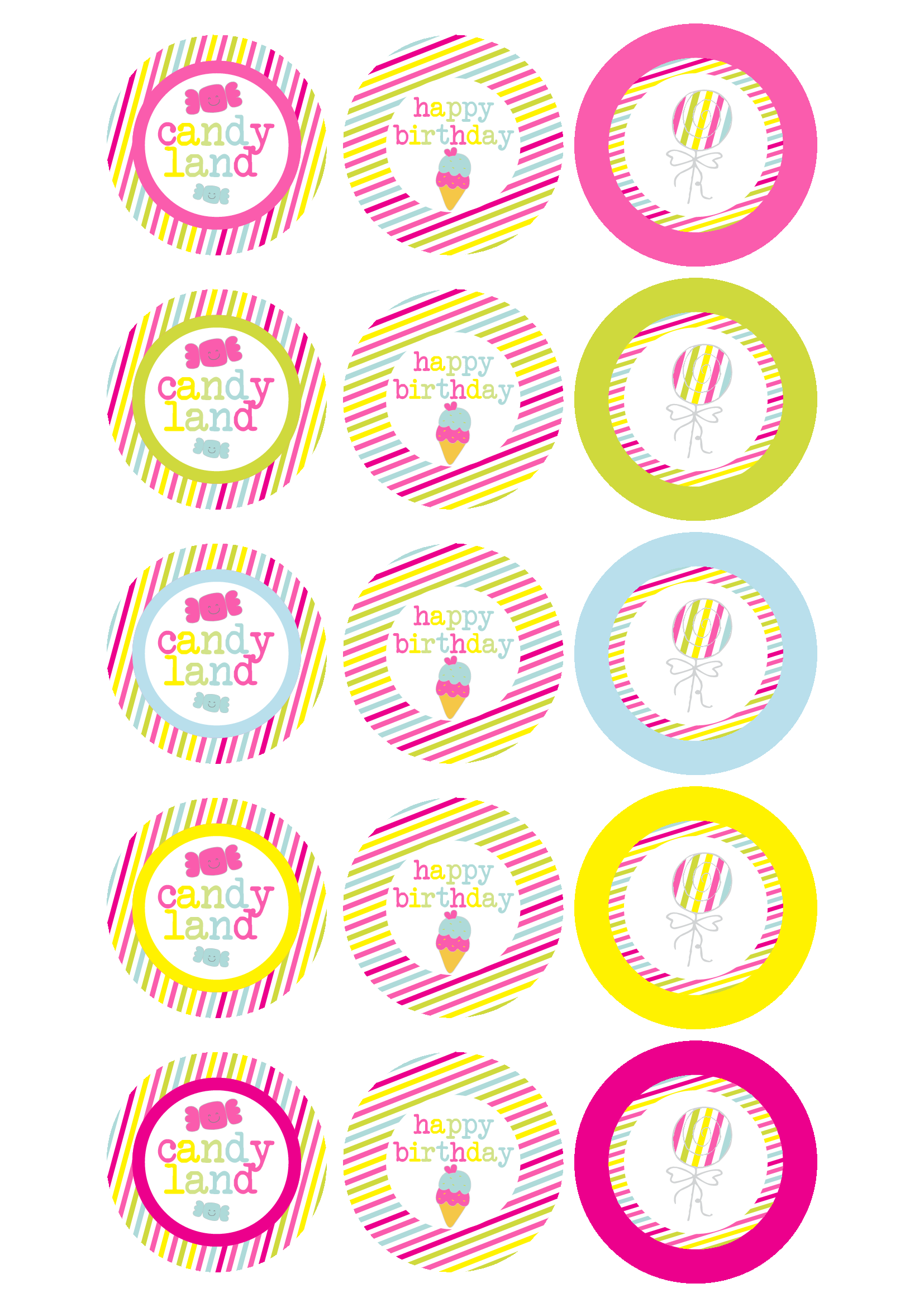Candy land printables … | Pinteres…