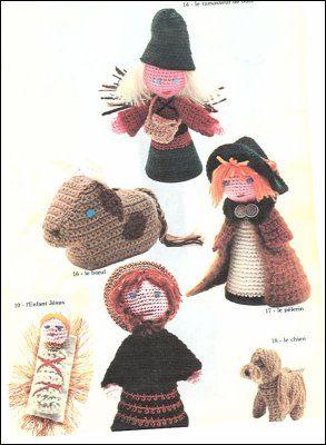 st joseph et autres personnage de la cr che au crochet cr ches noel pinterest no l. Black Bedroom Furniture Sets. Home Design Ideas