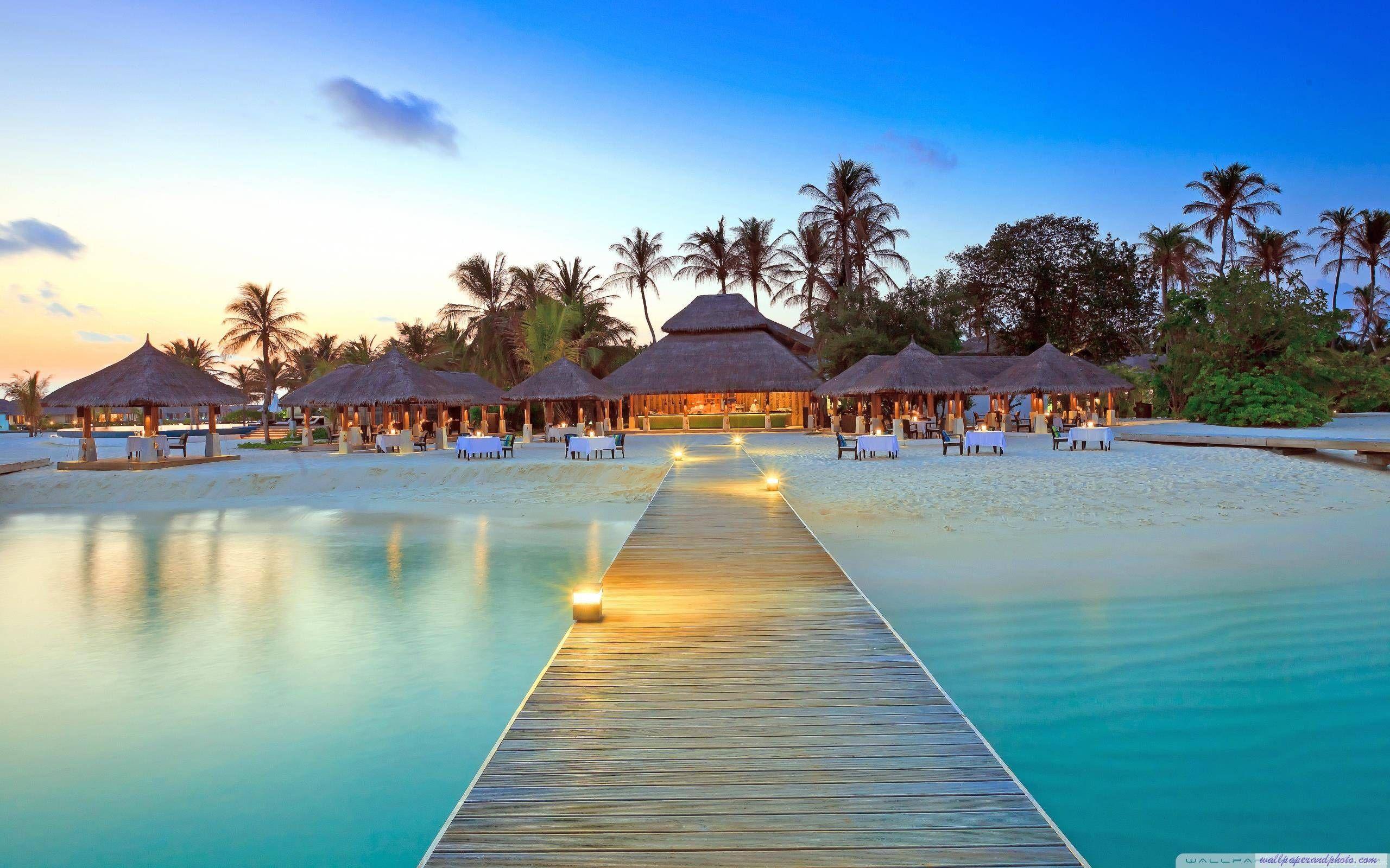 Maldive Islands Resort Hd 16 9 16 10 Desktop Wallpaper Widescreen High Beach Wallpaper Island Resort Maldives Resort