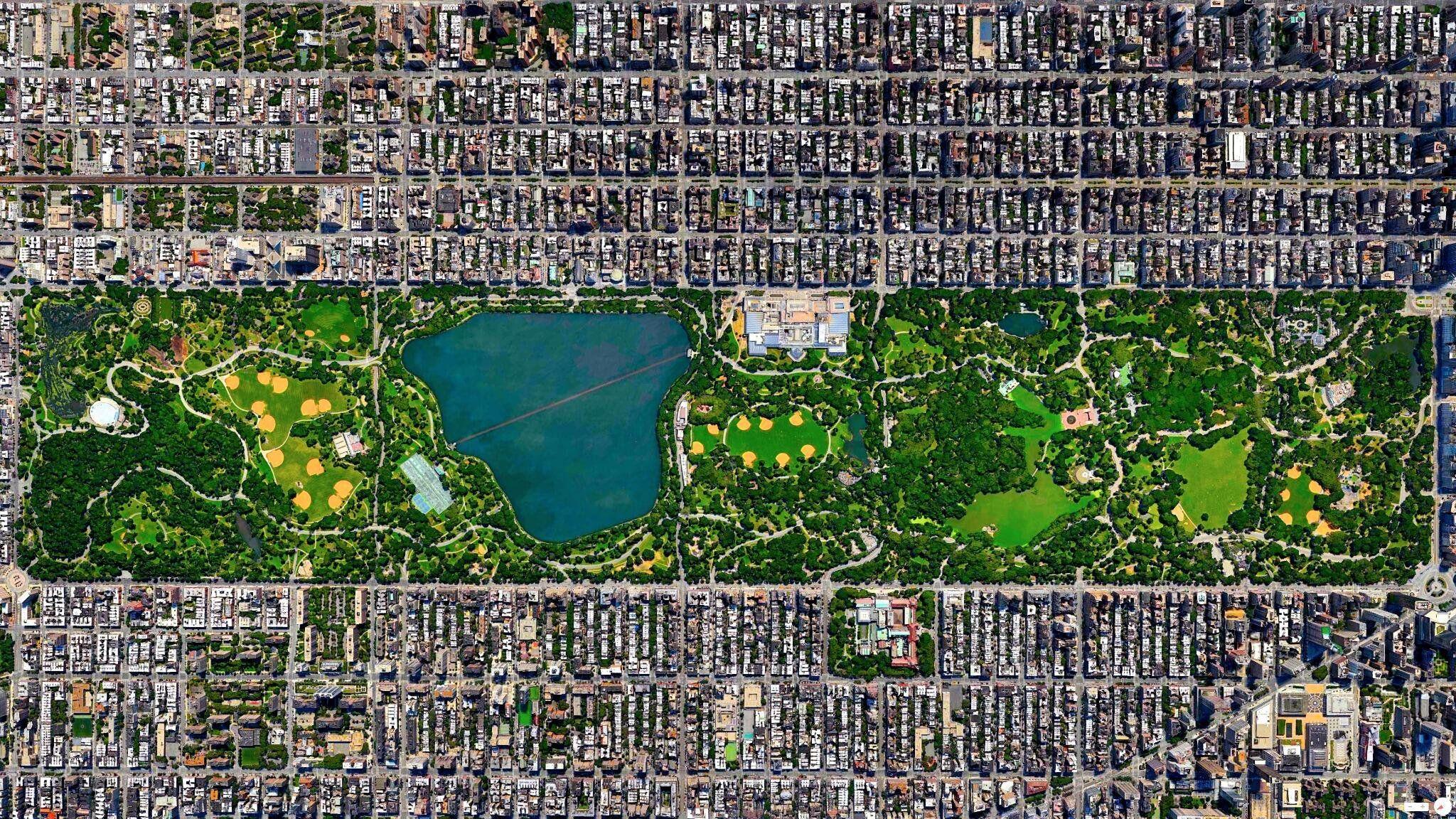Satellite 3d View Of Central Park New York City 2048 X 1152 City Cities Buildings Photography Ideias De Fotos Imagens De Satelite Fotos