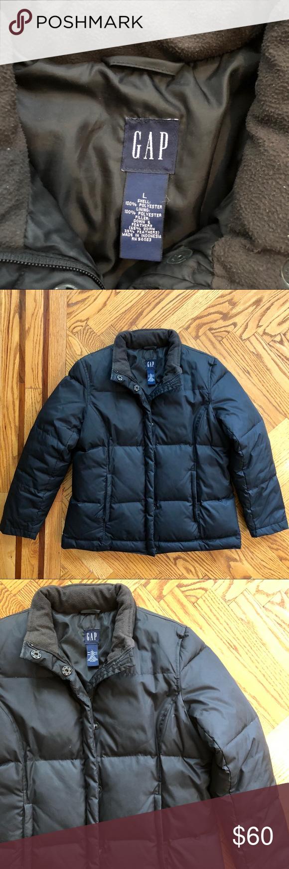 Gap Down Puffer Jacket Like New Size L Jackets Gap Jacket Puffer Jackets [ 1740 x 580 Pixel ]