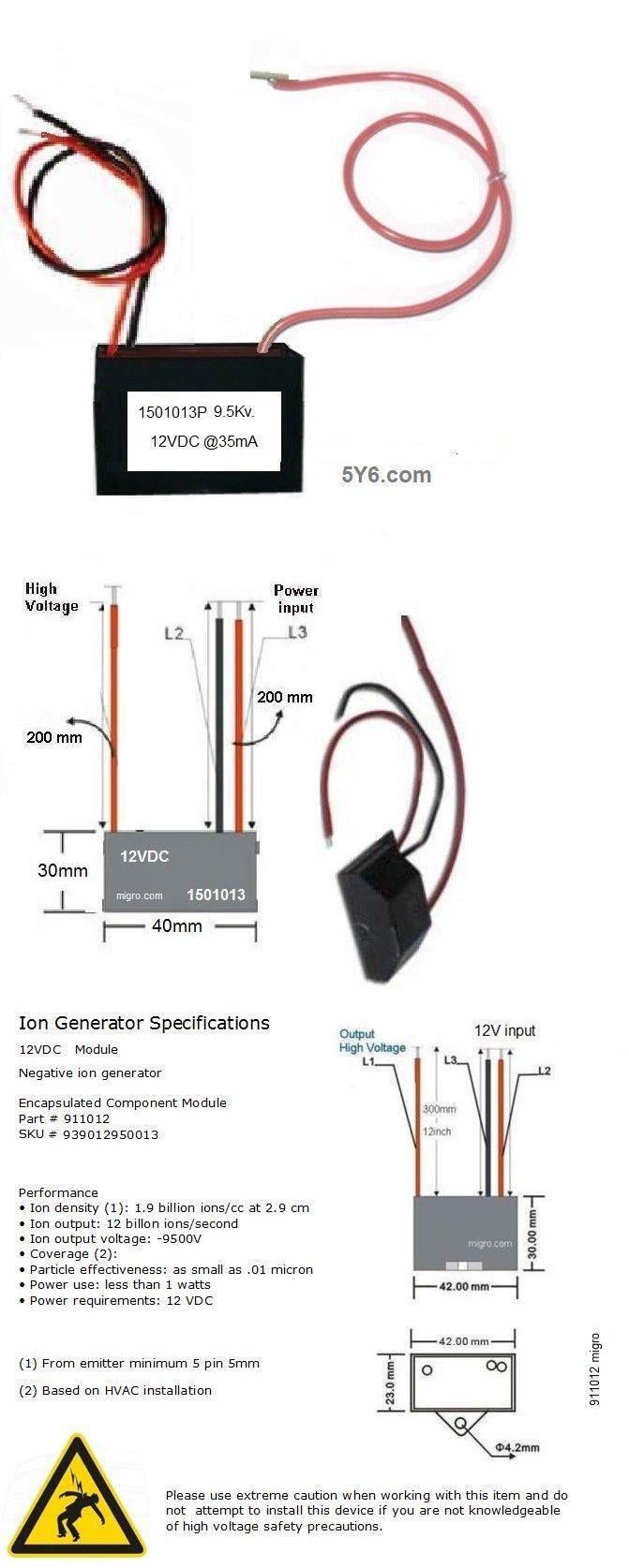 Air Purifiers 43510 12V Negative Ion Generator Module